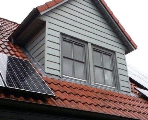 Gibelbekleidung mit dem Fassadensystem Rheinzink SP-Line